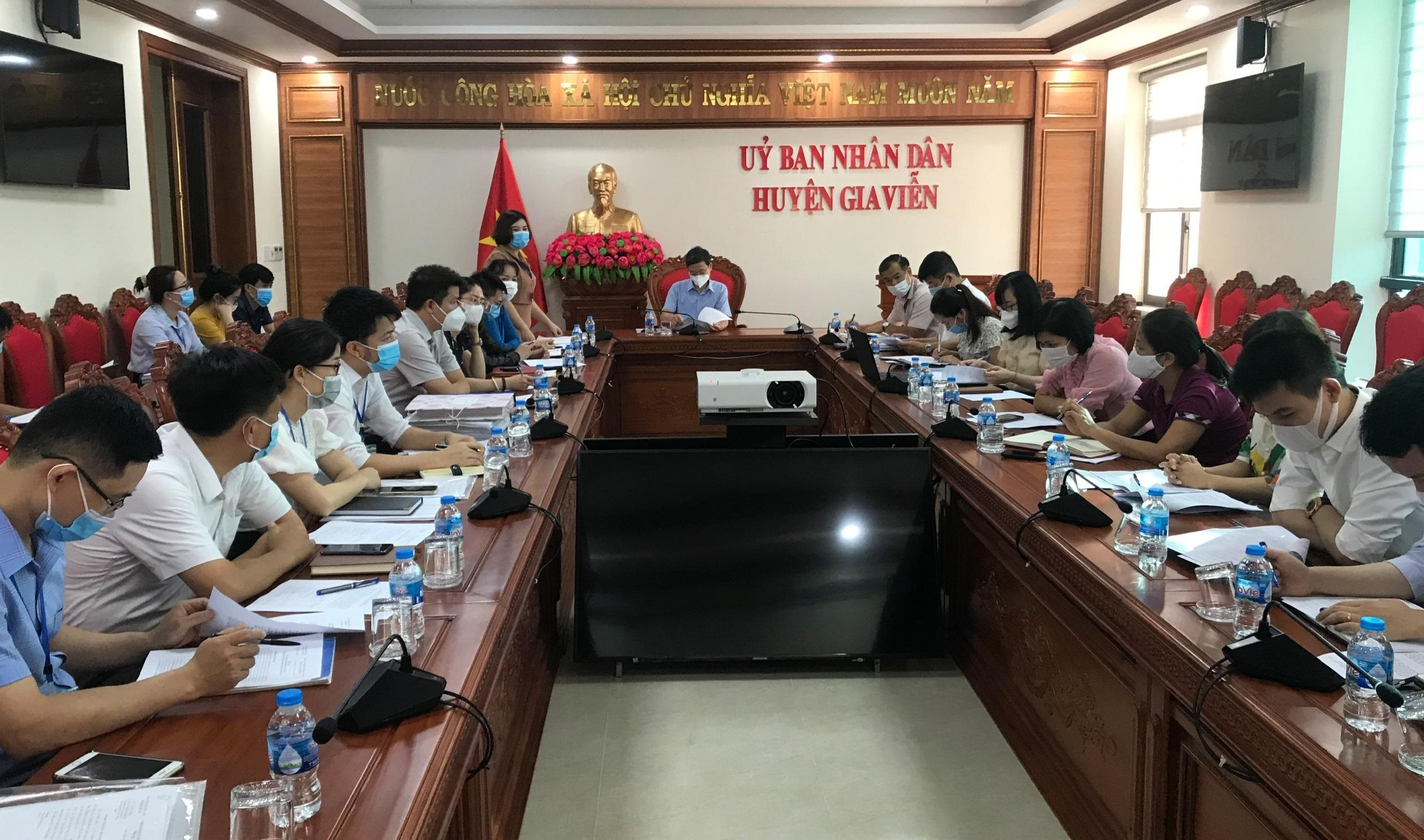 Tiếp và làm việc với Tổ công tác thẩm định, xác định chỉ số cải cách hành chính cấp Sở, cấp huyện năm 2020