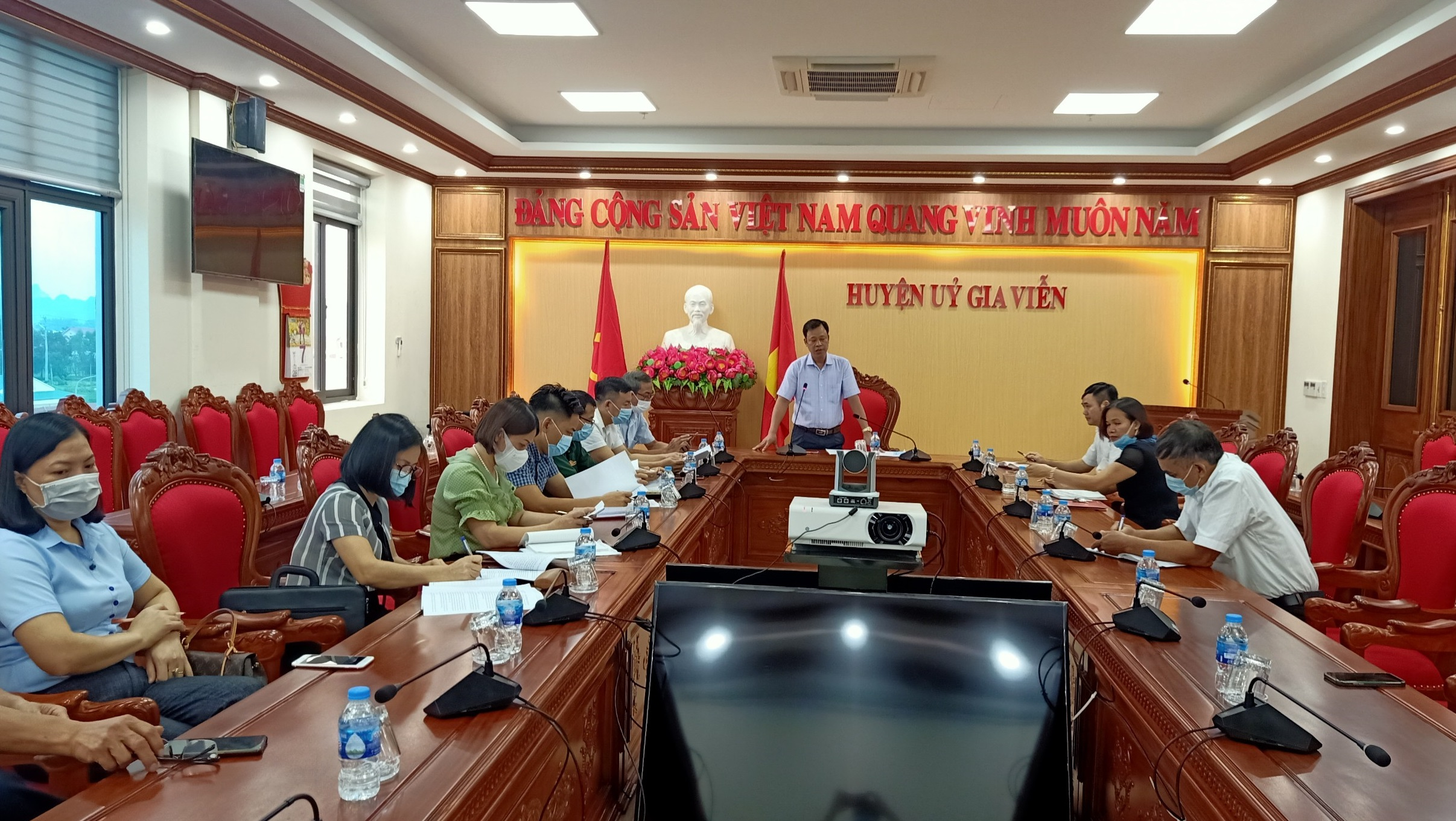 Ban Dân vận Huyện ủy tổ chức sơ kết công tác dân vận và hoạt động của các ban chỉ đạo 6 tháng đầu năm và triển khai nhiệm vụ 6 tháng cuối năm 2021