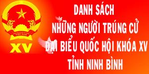 Danh sách những người trúng cử ĐBQH khóa XV tỉnh Ninh Bình